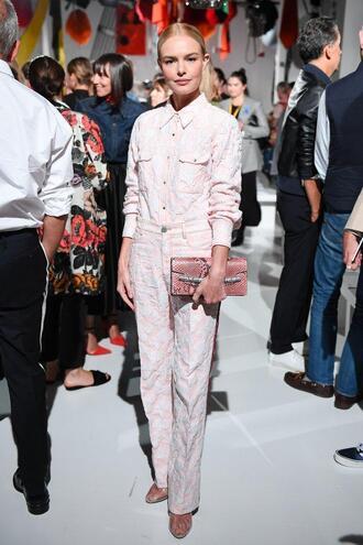 shoes pumps pants shirt nyfw 2017 ny fashion week 2017 kate bosworth