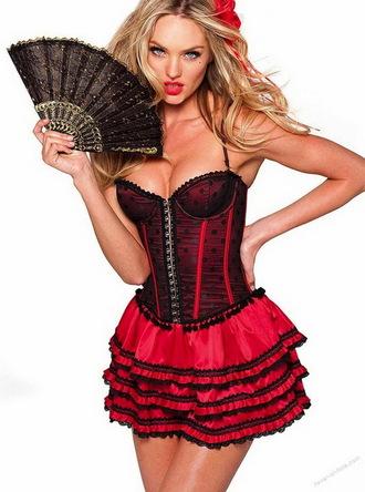 victoria's secret corset dress senorita red dress red underwear sexy underwear candice swanepoel halloween