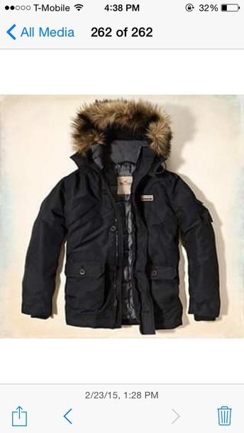 jacket hollister winter coat