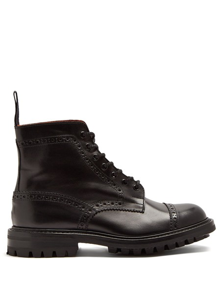 Junya Watanabe leather ankle boots ankle boots leather black shoes