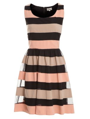 Deby Debo Black Multi Stripe Dress