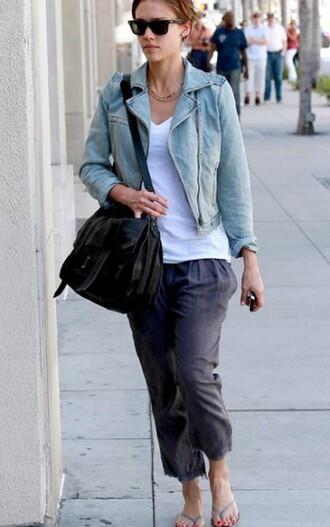 jessica alba blue jacket jacket