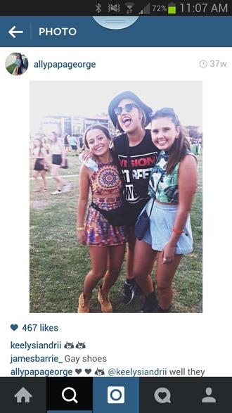top boho shirt boho hippie hippie chic yellow orange blue shirt white shirt skirt blouse