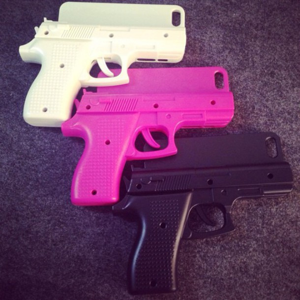 Hand gun iphone phone case cover (3 colors available) – glamzelle