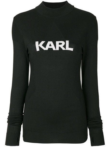 karl lagerfeld sweater women black