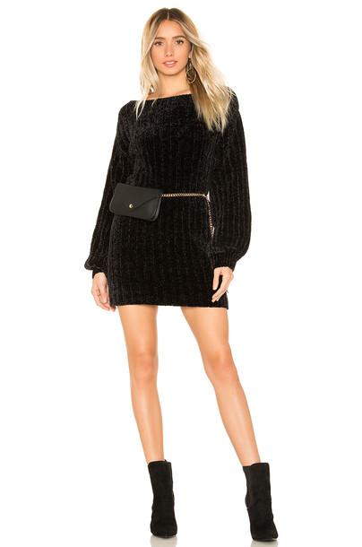 Lovers + Friends Guliani Chenille Sweater Dress in black