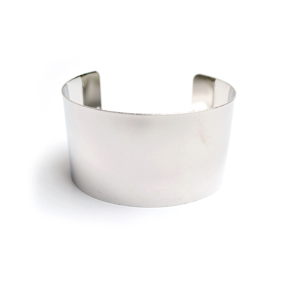 Wide Cuff Bracelet w/ Chain Link