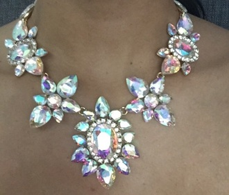 jewels rhinestones statement necklace