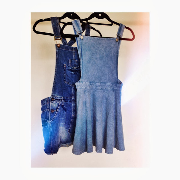 denim overalls skirt denim romper