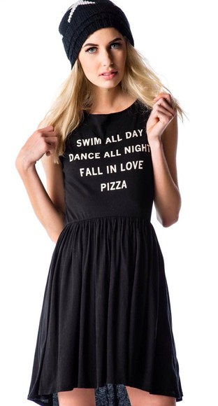 shirt forever young blonde hair black punk hipster goth hipster casual dress casual cotton graphic tee beanie rebel attitude punk rock skirt chiffon skirt high-low dresses