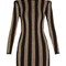 Striped-knit mini dress | balmain | matchesfashion.com us