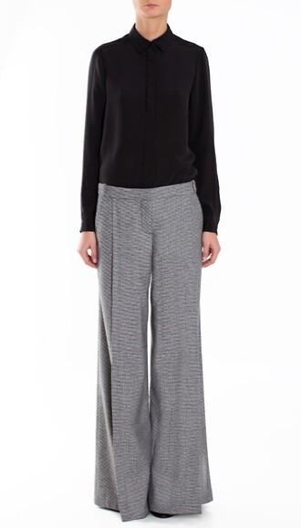 pants wool designer boho boho chic wide leg flare wide-leg pants