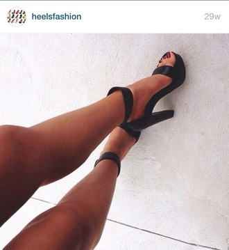 shoes black heels black shoes high heels black  high heels cute high heels ankle strap heels