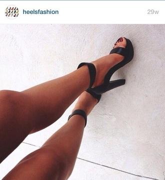 shoes black heels black shoes high heels black  high heels cute high heels ankle strap heels