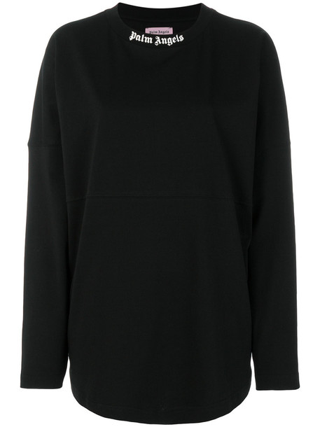 Palm Angels sweatshirt women cotton print black sweater