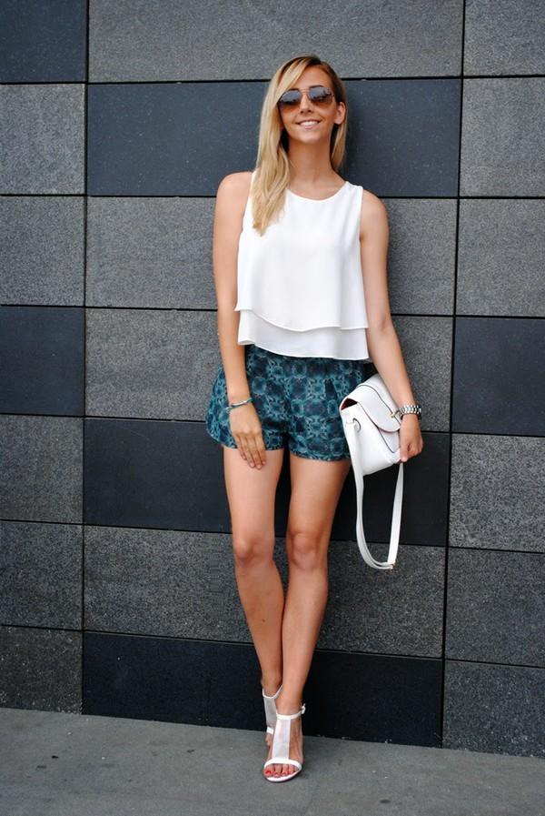 let's talk about fashion ! sunglasses blouse shoes bag jewels