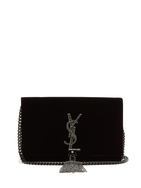 Saint Laurent cross bag velvet black