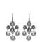 Cubic-zirconia and silver chandelier earrings