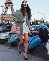 shoes,bag,blazer,dress,sunglasses,mules,polka dots mules