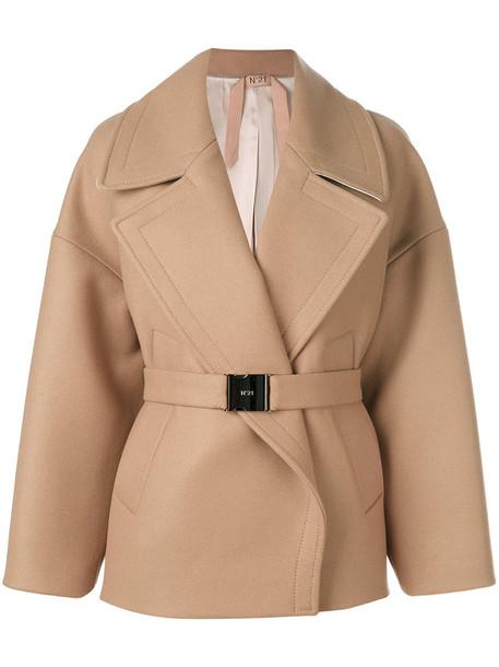 No21 coat women wool brown