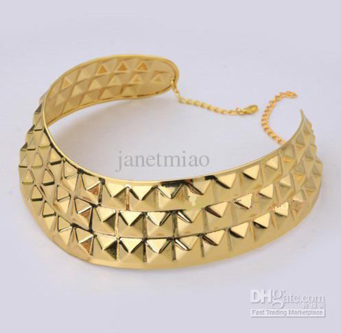 Plated choker necklace metal collar neckline necklace 2012 hot sale ps
