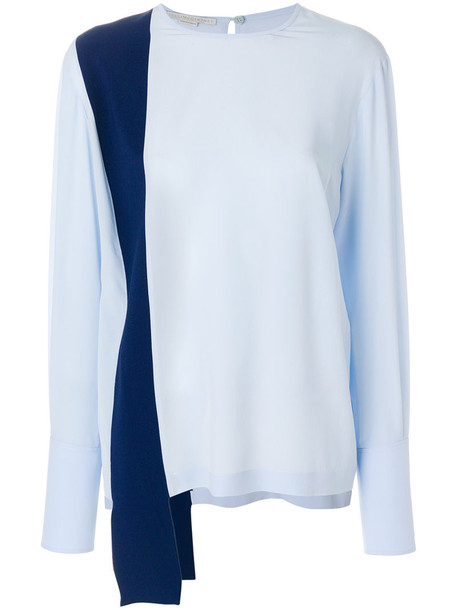 Stella McCartney blouse women blue silk top