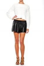 BRAVERY LEATHER SHORT - Shorts