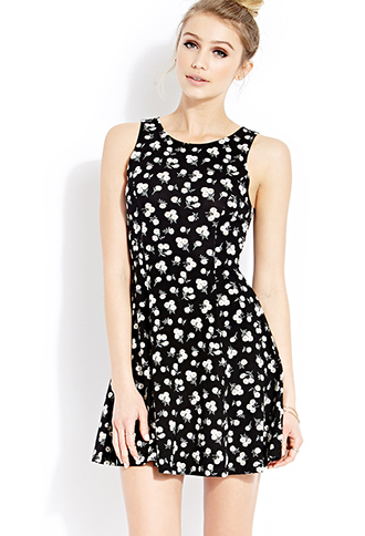 Wild Daisies Skater Dress | FOREVER21 - 2000087712