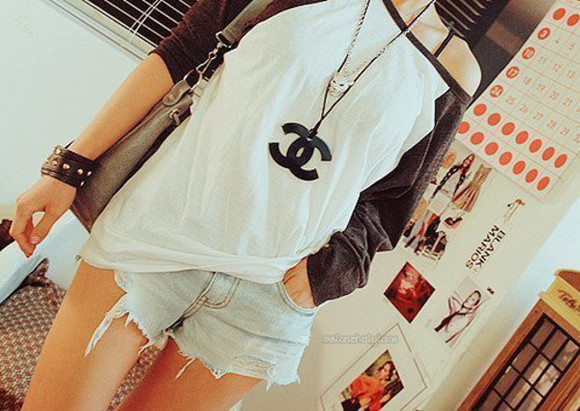 long sleeves blouse cute jewels