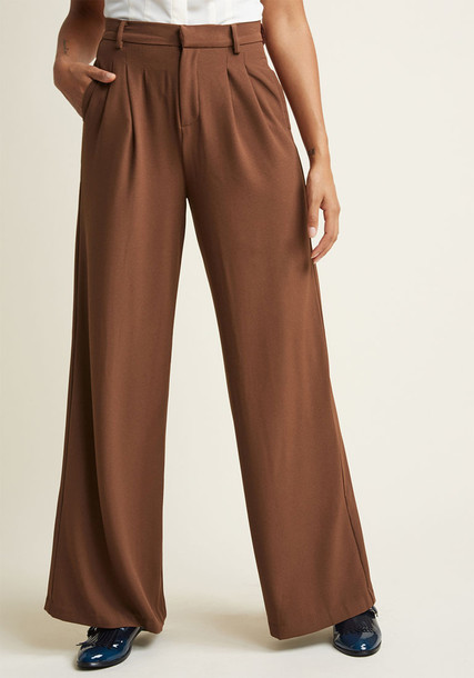 Modcloth pleated neutral pants