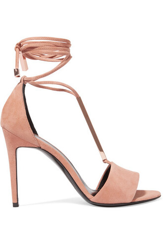 sandals suede neutral shoes