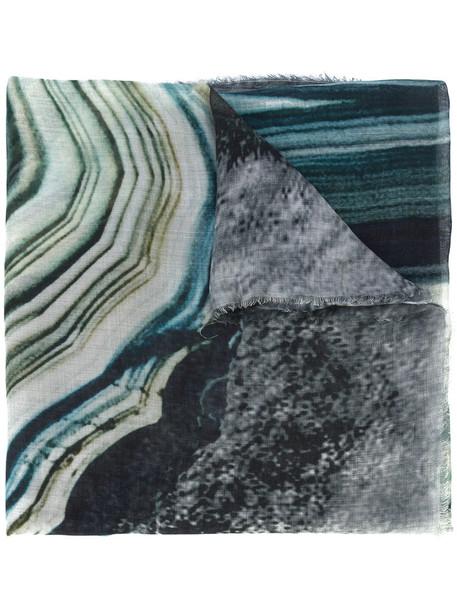 women scarf blue silk