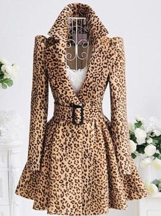 coat leopard print winter coat