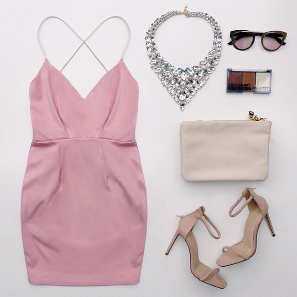 Dress pink blush peplum dress chic fancy date outfit date outfit outfit fashion inspo ...