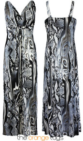 dress,long dress,women,laides,girl,black and white,evening dress,maxi dress,print,tropical,snake print,cute,summer,spring,pluz size,trendy,casual,psychedelic