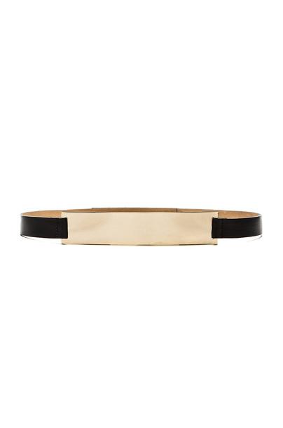 B-Low the Belt Gold Melt Belt in black