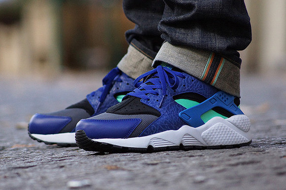 shoes nike sport huarache trendy blue nike air fitness