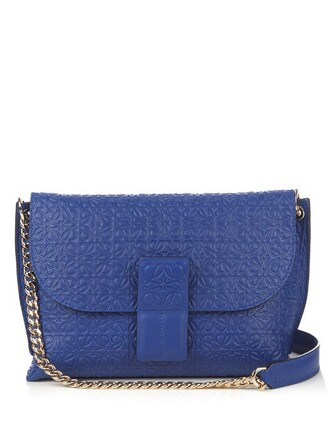 cross bag leather blue