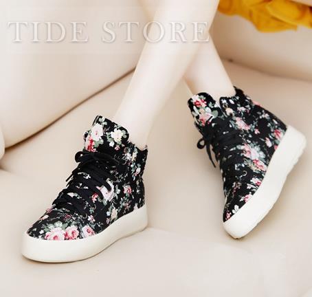 Exquisite Floral Imprint Flat Heels Closed Toe Comfortable Shoes: tidestore.com