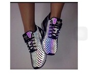 shoes,adidas shoes,adidas,glow in the dark,purple,sneakers,tennis shoes,running shoes,shorts