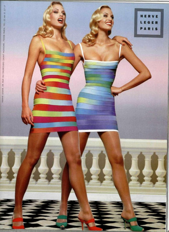 bandage dress herve leger summer outfits party dress ombre clubwear
