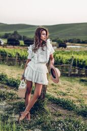viva luxury,blogger,dress,white dress,white lace dress,sandals,summer outfits