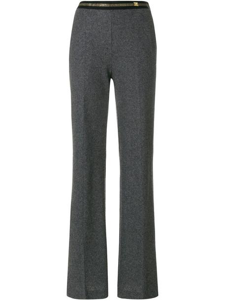 Cavalli Class women wool grey pants