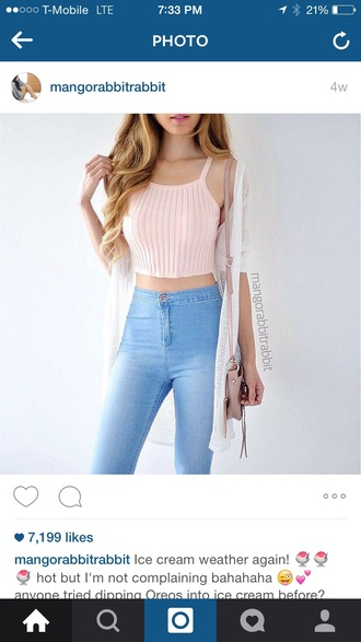 shirt light pink pale rose ribbed crop top