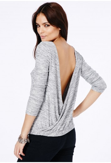 Larissa open back crossover sweatshirt