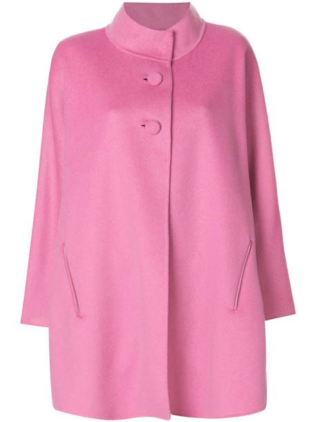 Iris von Arnim coat short women purple pink
