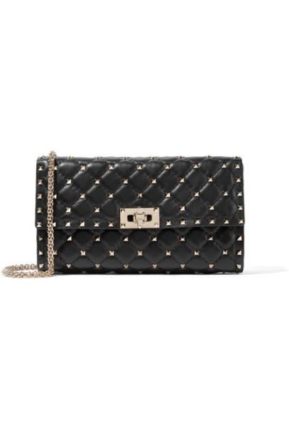 Valentino quilted bag shoulder bag leather black
