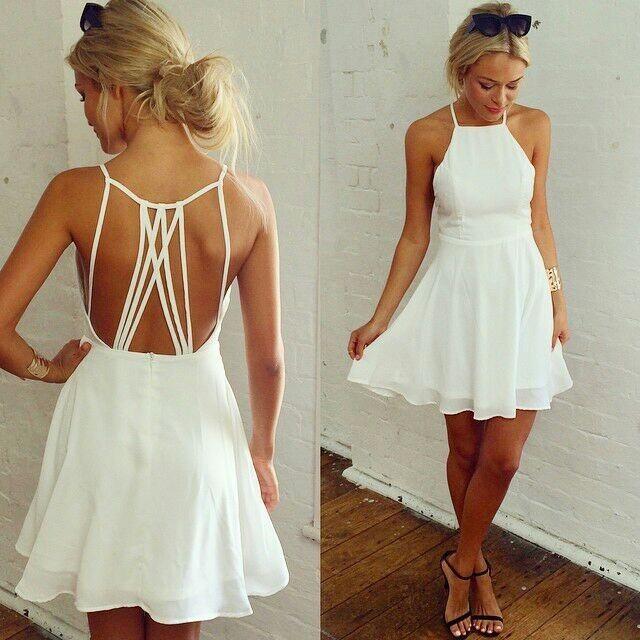 Cute white hot dress