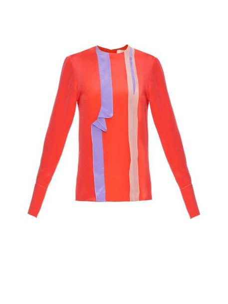 Roksanda blouse ruffle silk pink top