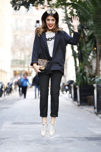 dulceida blogger shirt bag sunglasses shoes
